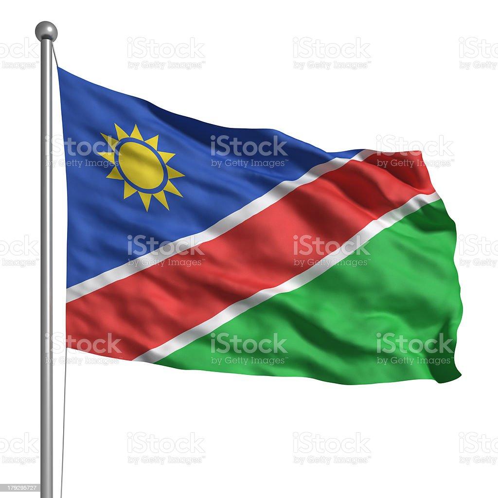 Flag of Namibia (Isolated) royalty-free stock photo