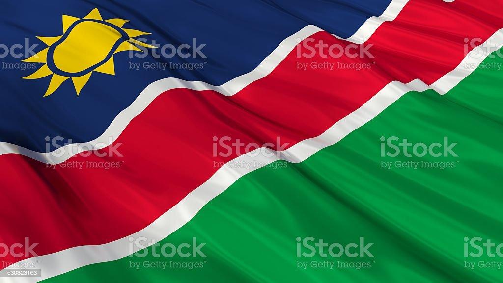 Flag of Namibia. stock photo