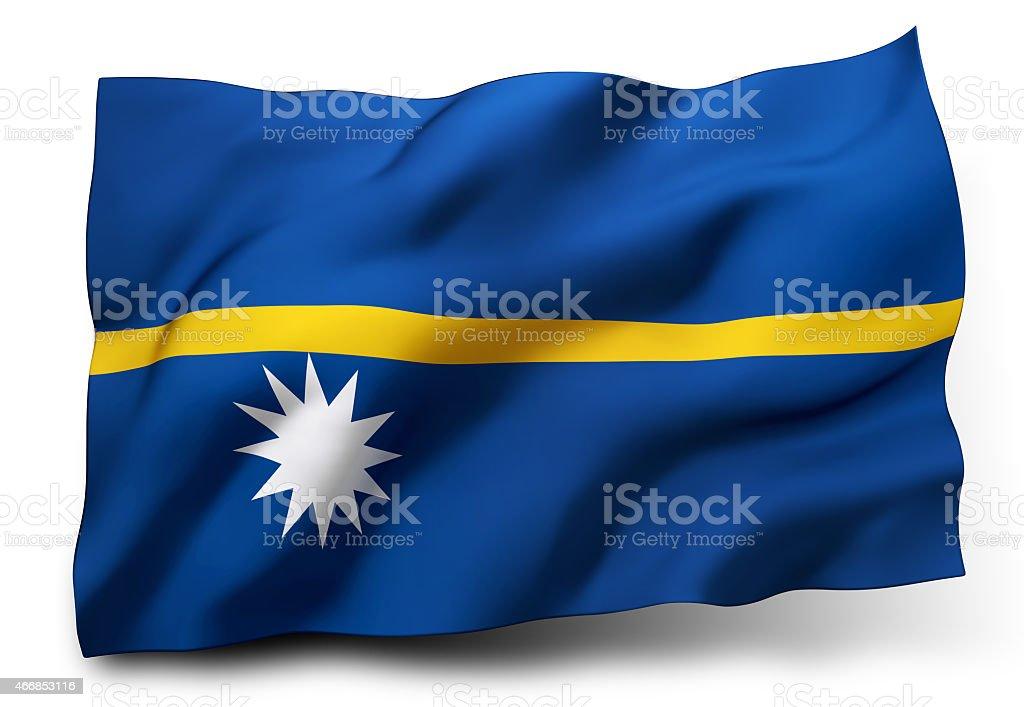Flag of Nauru stock photo