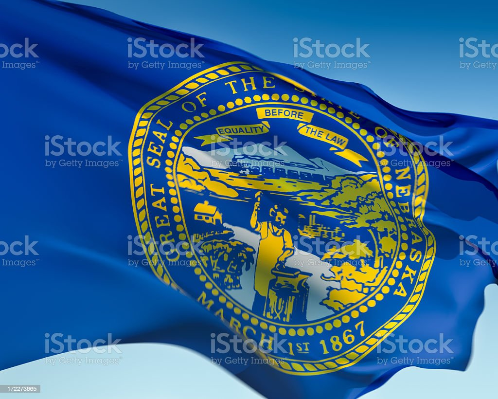 Flag of Nebraska royalty-free stock photo