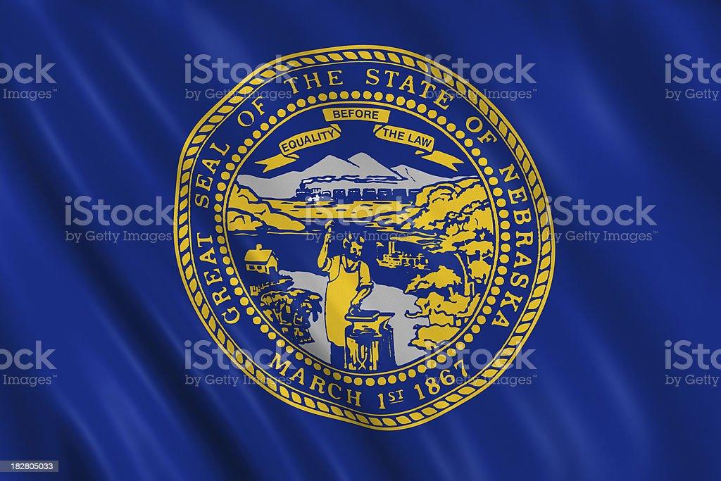 flag of nebraska royalty-free stock photo