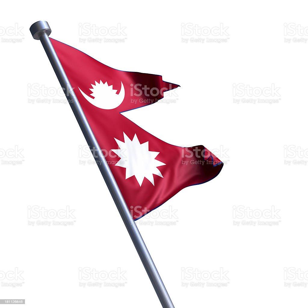 Flag of Nepal isolated on white stock photo