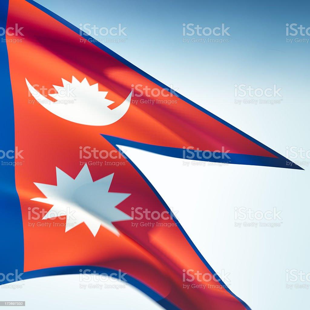Flag of Nepal stock photo