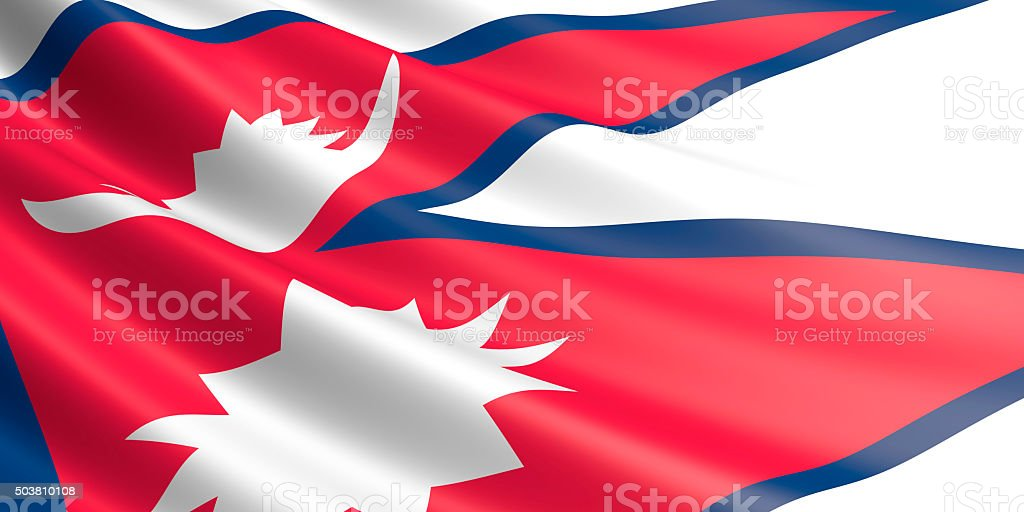 Flag of Nepal waving in the wind. royalty-free stock vector art