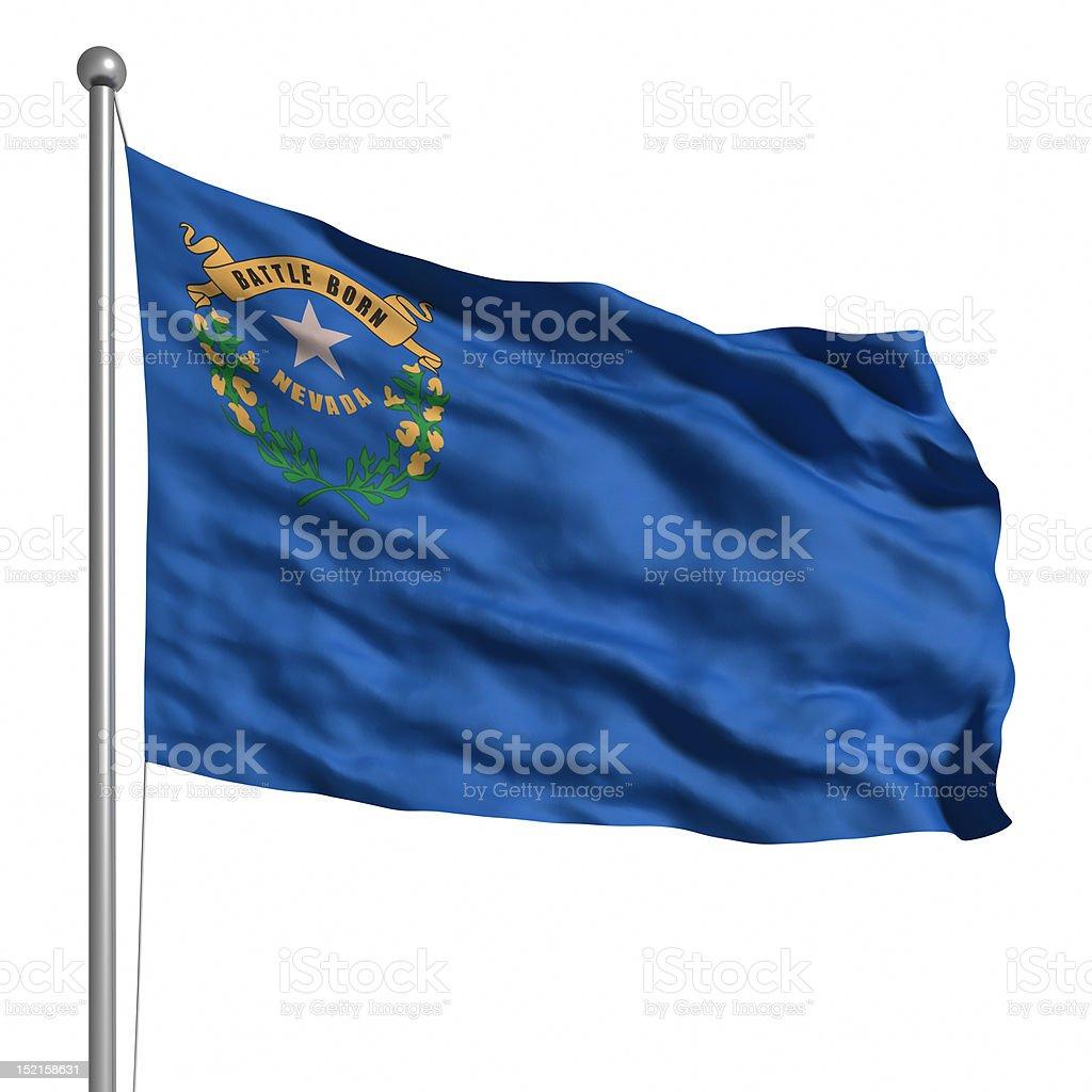 Flag of Nevada (isolated) royalty-free stock photo