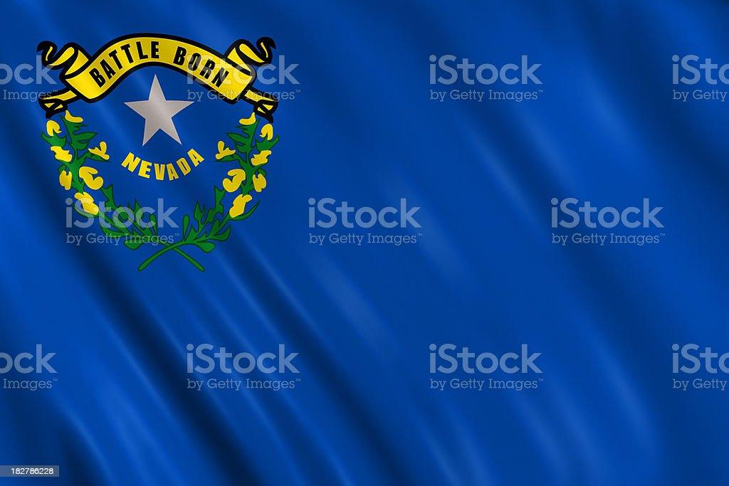 flag of nevada royalty-free stock photo