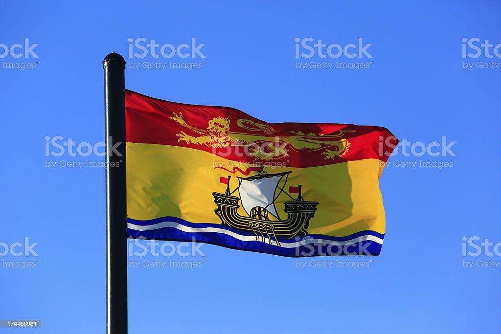 Flag of New Brunswick stock photo