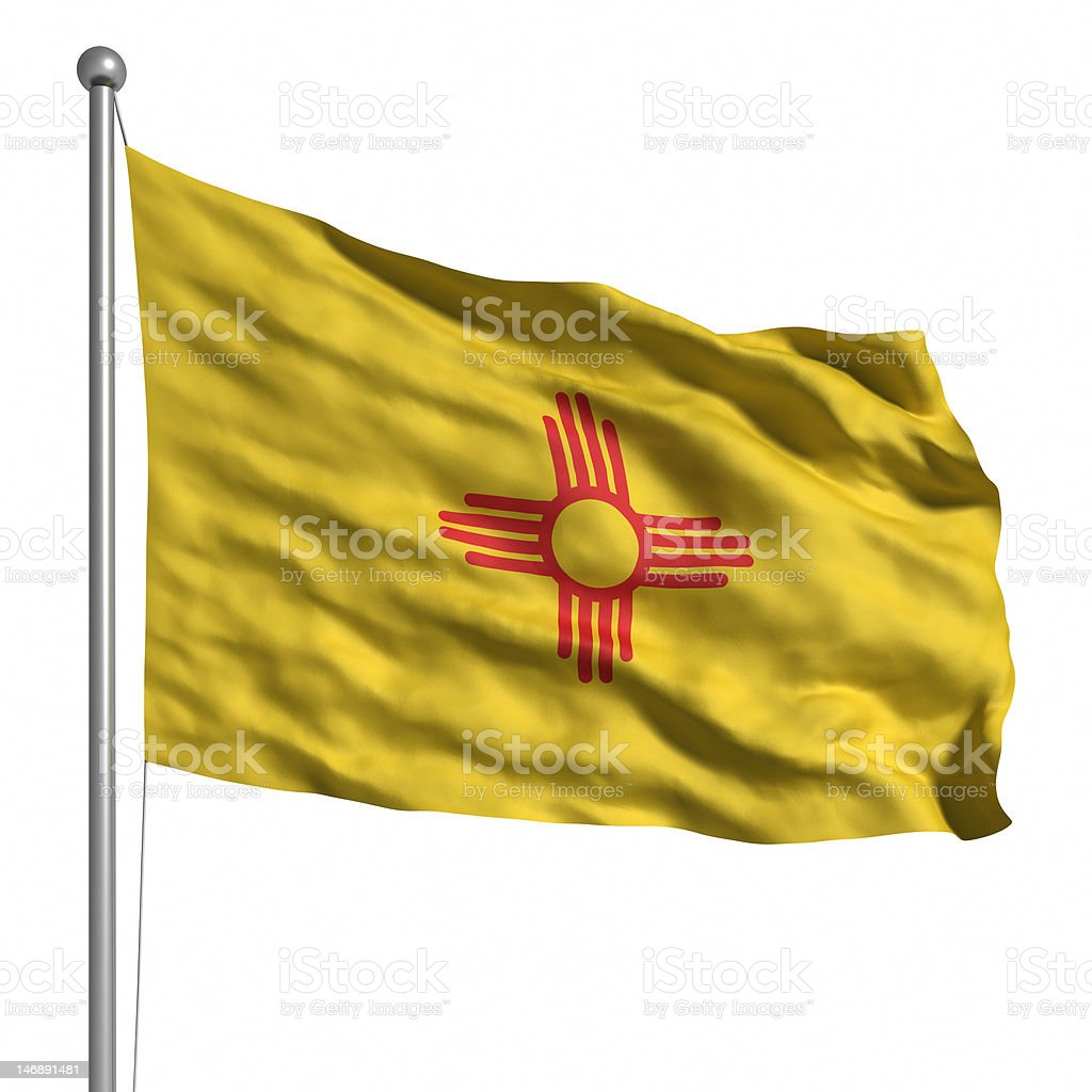 Flag of New Mexico (isolated) royalty-free stock photo