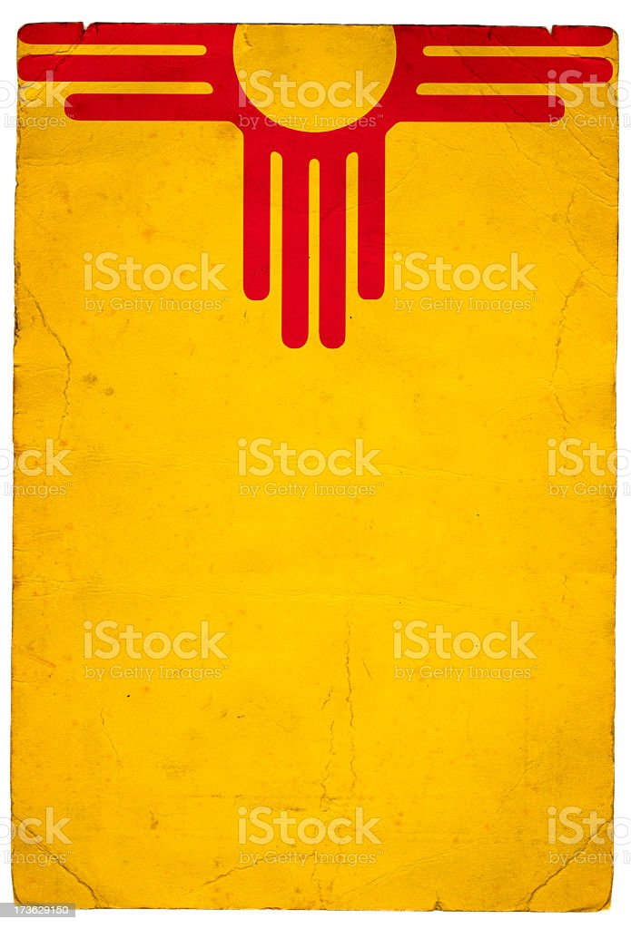 Flag of New Mexico stock photo