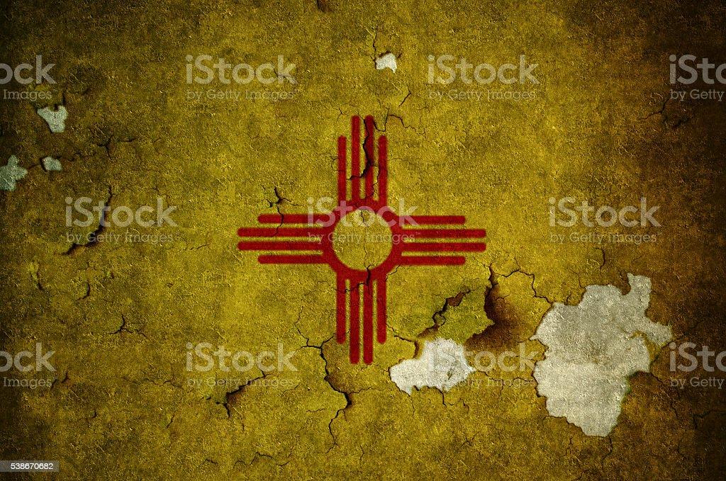 Flag of New Mexico stock photo