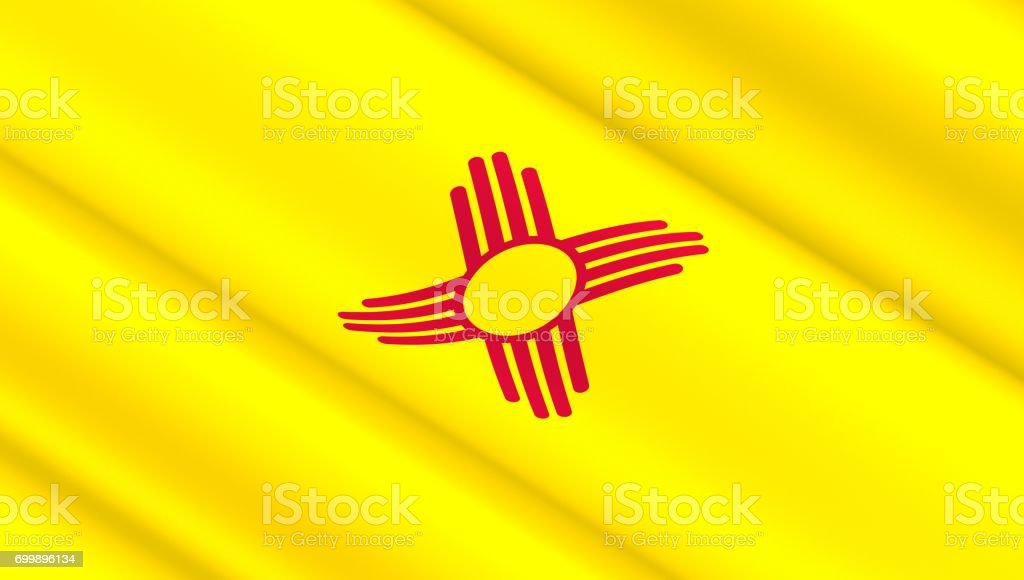 Flag of New Mexico state stock photo