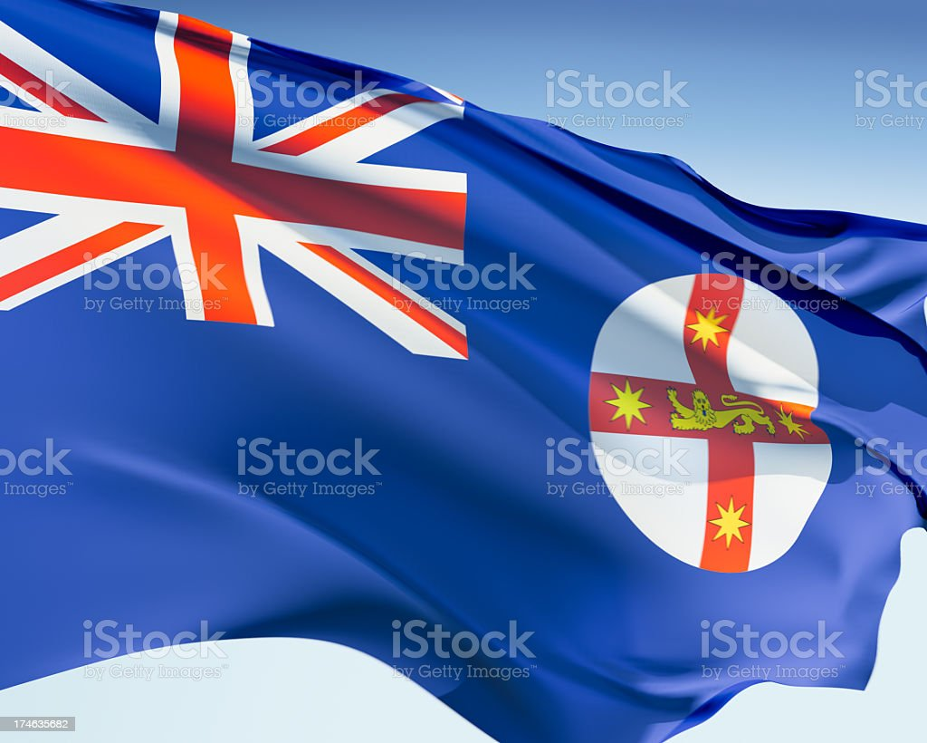 Flag of New South Wales royalty-free stock photo