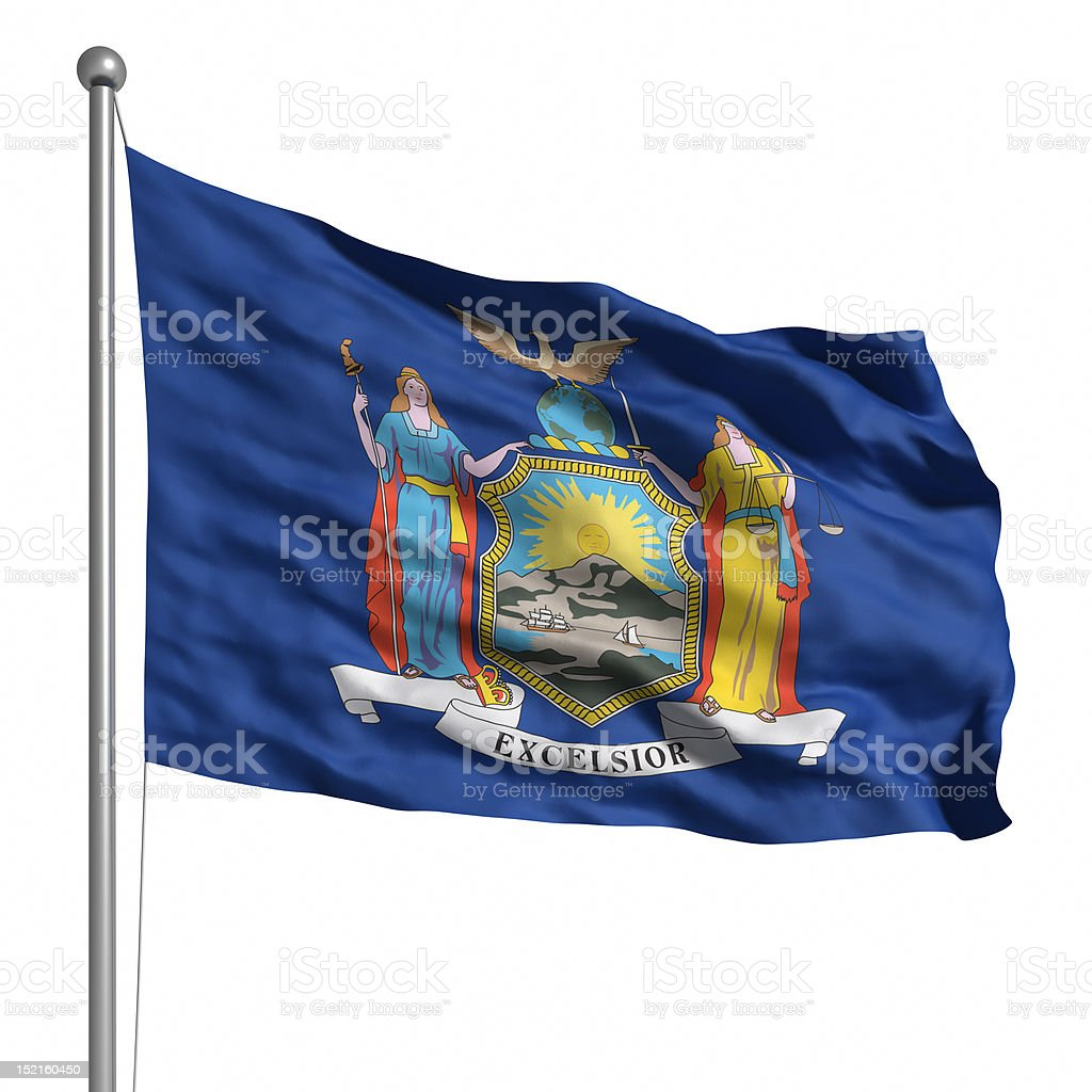 Flag of New York (isolated) stock photo