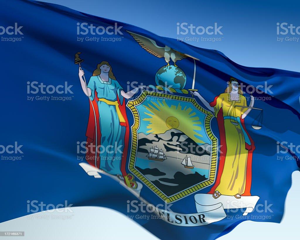 Flag of New York stock photo