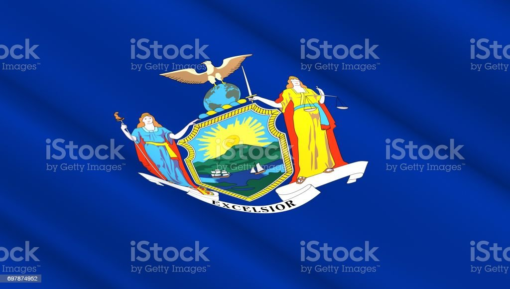 Flag of New York state stock photo