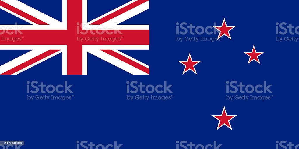 Flag of New Zealand - Authentic version stock photo