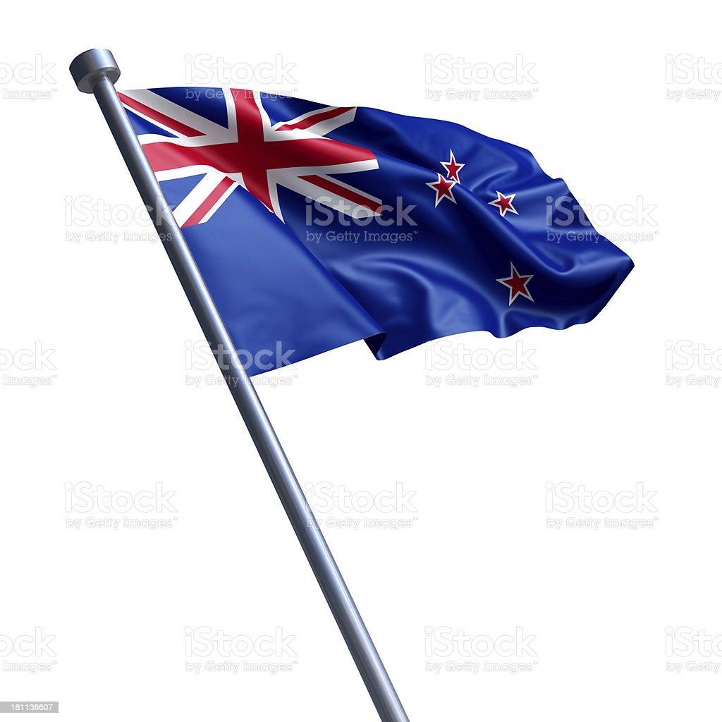 Flag of New Zealand isolated on white stock photo