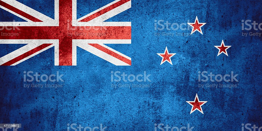 flag of New Zealand stock photo