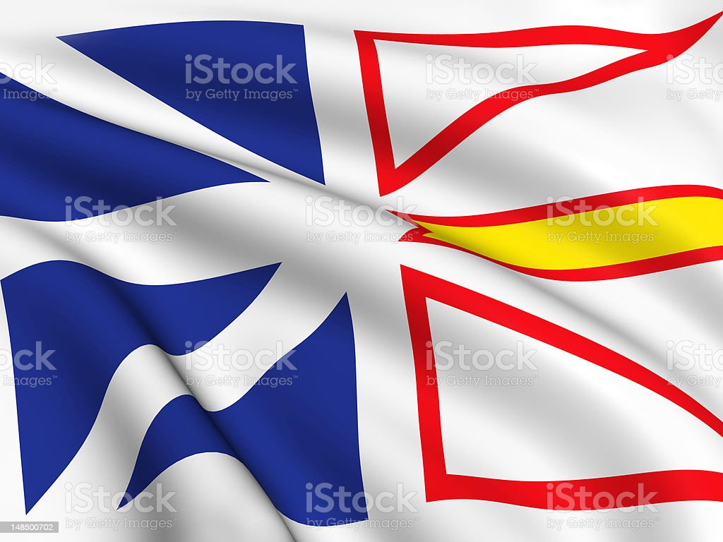 Flag of Newfoundland and Labrador royalty-free stock photo