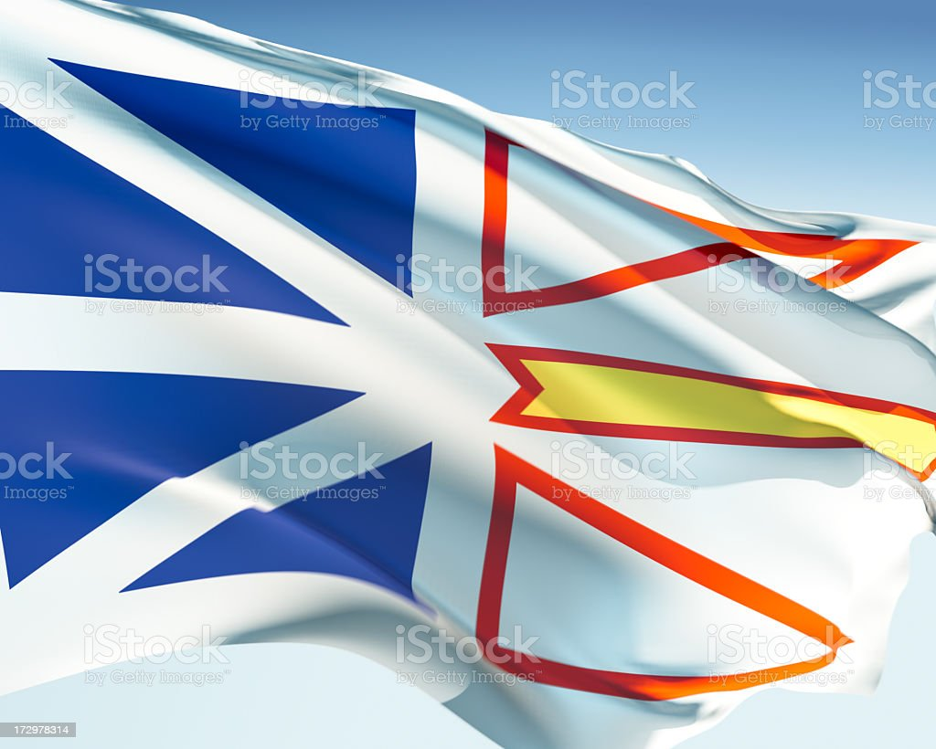 Flag of Newfoundland and Labrador stock photo