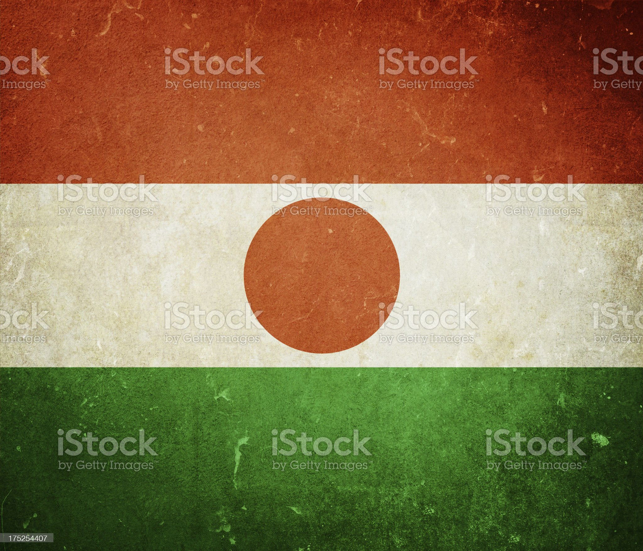 Flag of Niger royalty-free stock photo