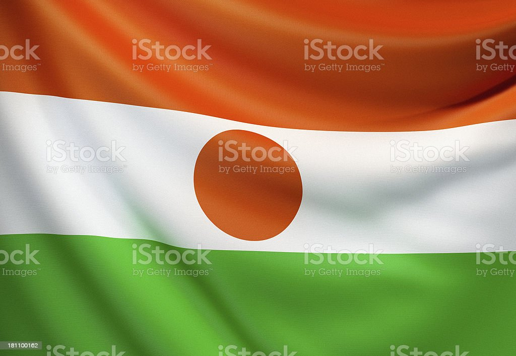 Flag of Niger stock photo