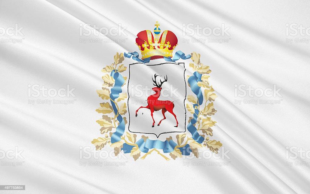 Flag of Nizhny Novgorod Oblast, Russian Federation stock photo