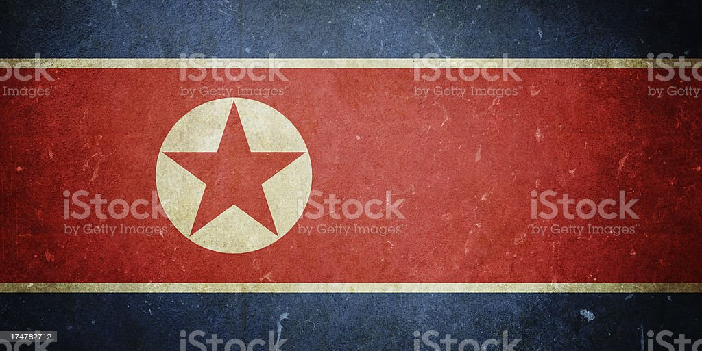 Flag of North Korea royalty-free stock photo