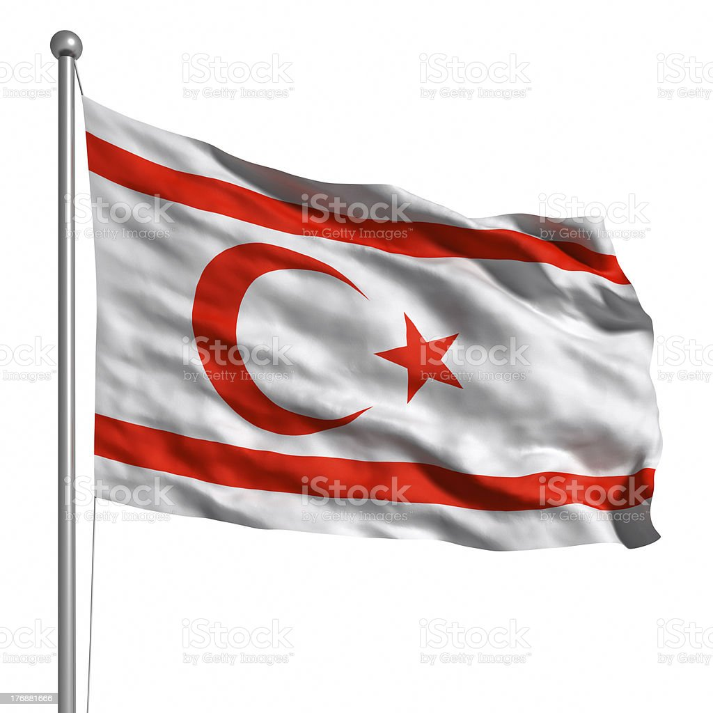 Flag Of Northern Cyprus (Isolated) stock photo