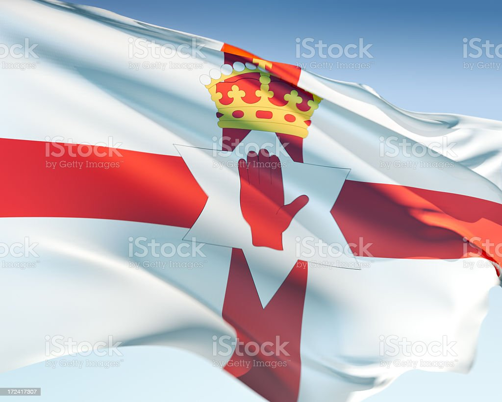 Flag of Northern Ireland royalty-free stock photo