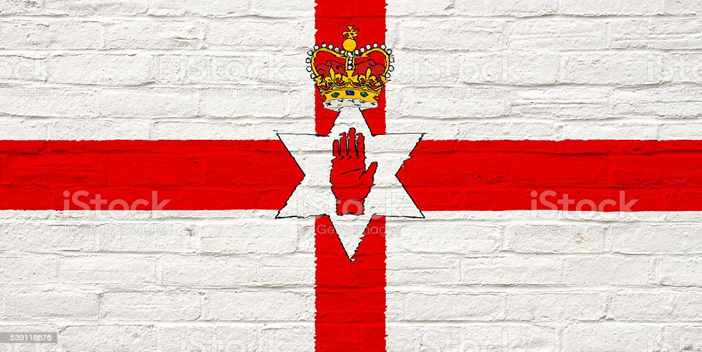 Flag of Northern Ireland stock photo