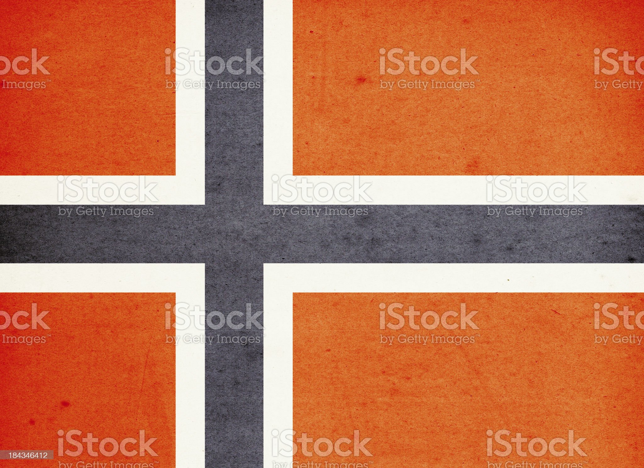 Flag of Norway Close-Up (High Resolution Image) royalty-free stock photo