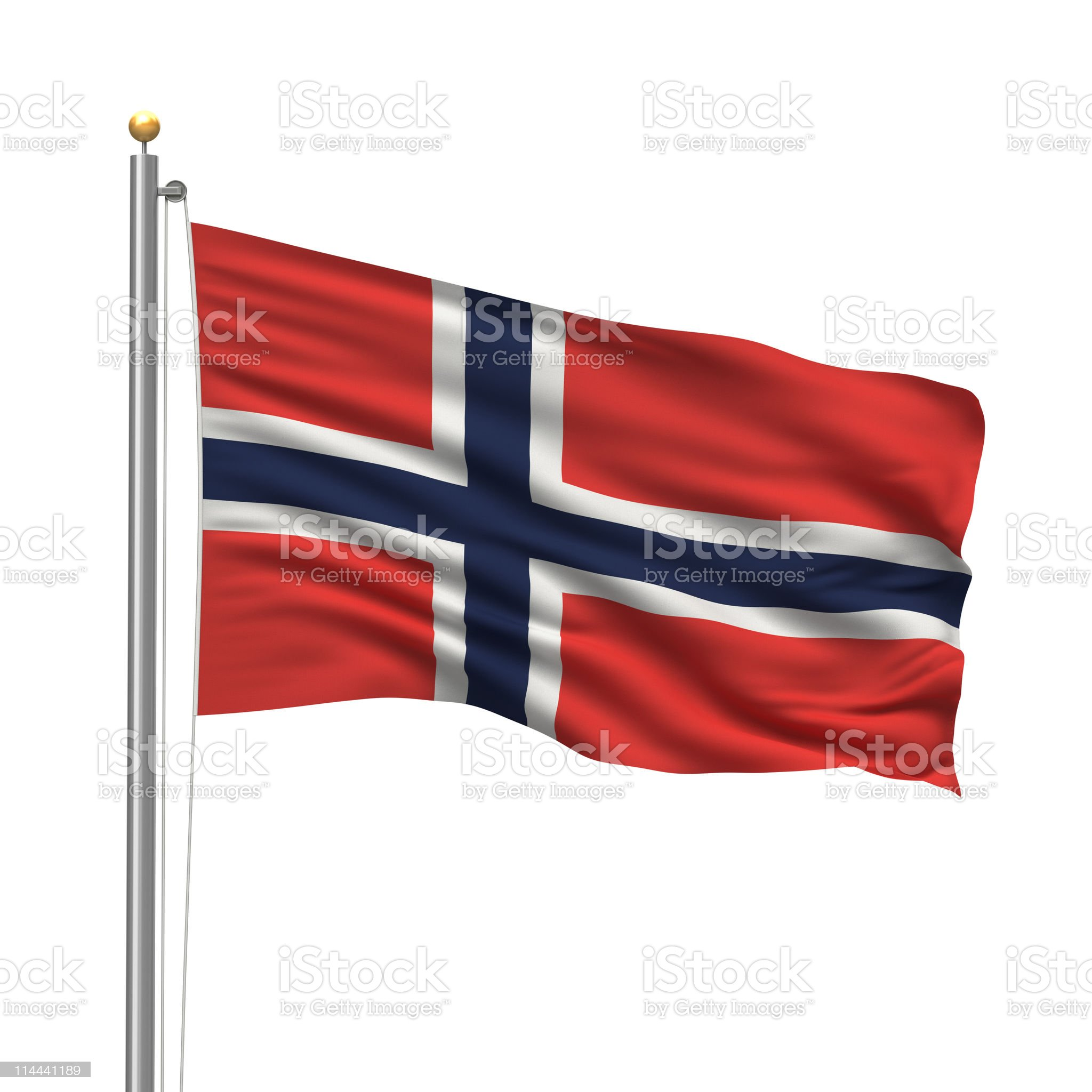 Flag of Norway royalty-free stock vector art