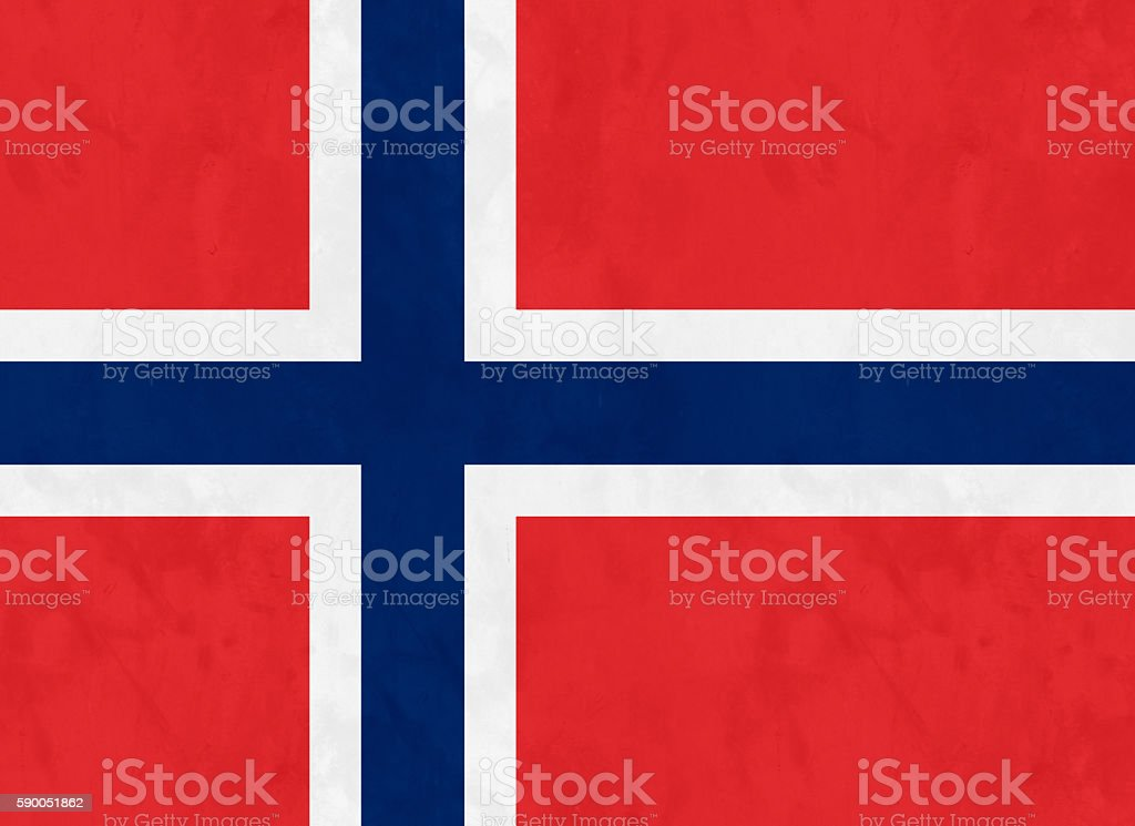 Flag Of Norway stock photo