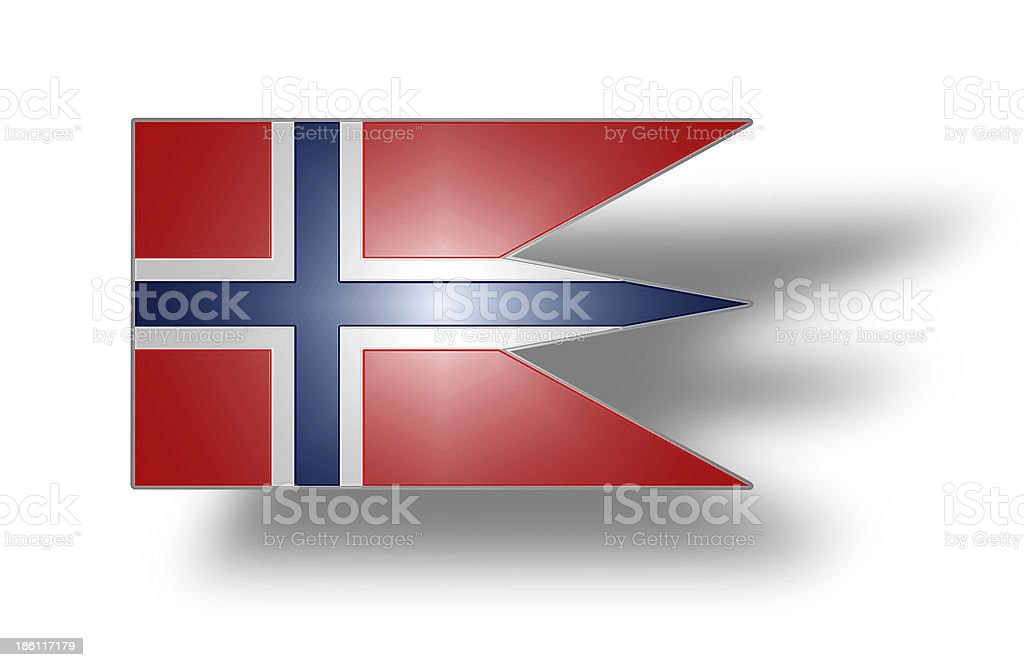 Flag of Norway state and war (stylized I). stock photo
