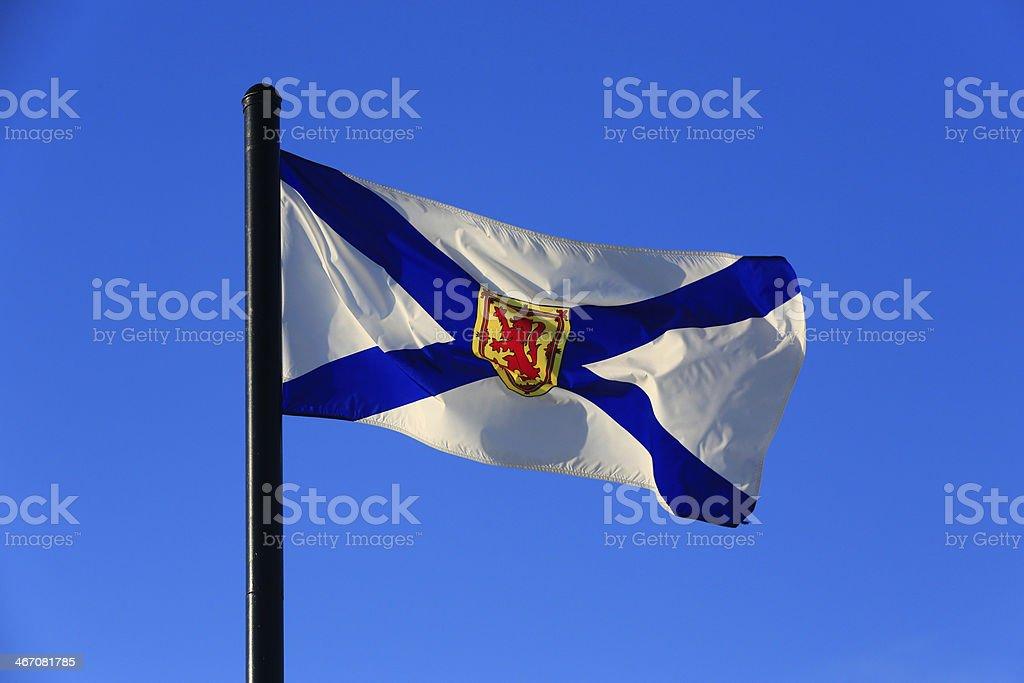 Flag of Nova Scotia stock photo