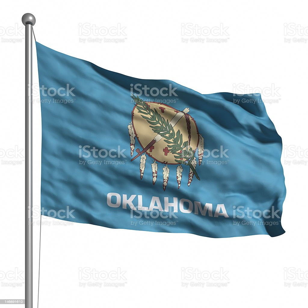 Flag of Oklahoma (isolated) stock photo
