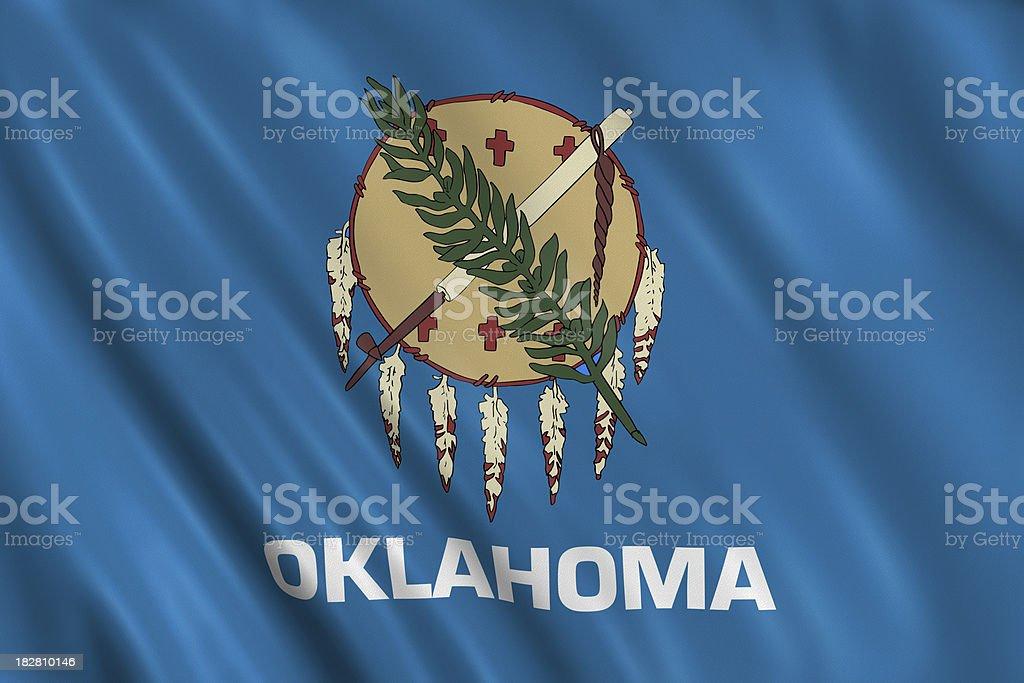 flag of oklahoma stock photo