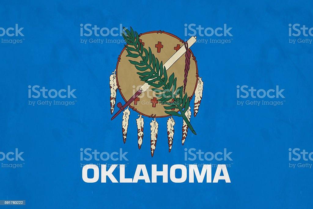 Flag Of Oklahoma (U.S. state) stock photo