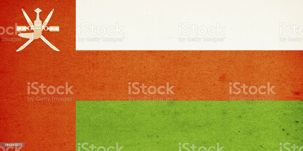 Flag of Oman Close-Up (High Resolution Image) royalty-free stock photo