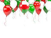 Flag of oman on balloons