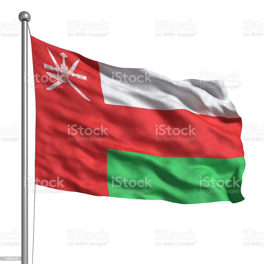 Flag of Oman (Isolated) royalty-free stock photo