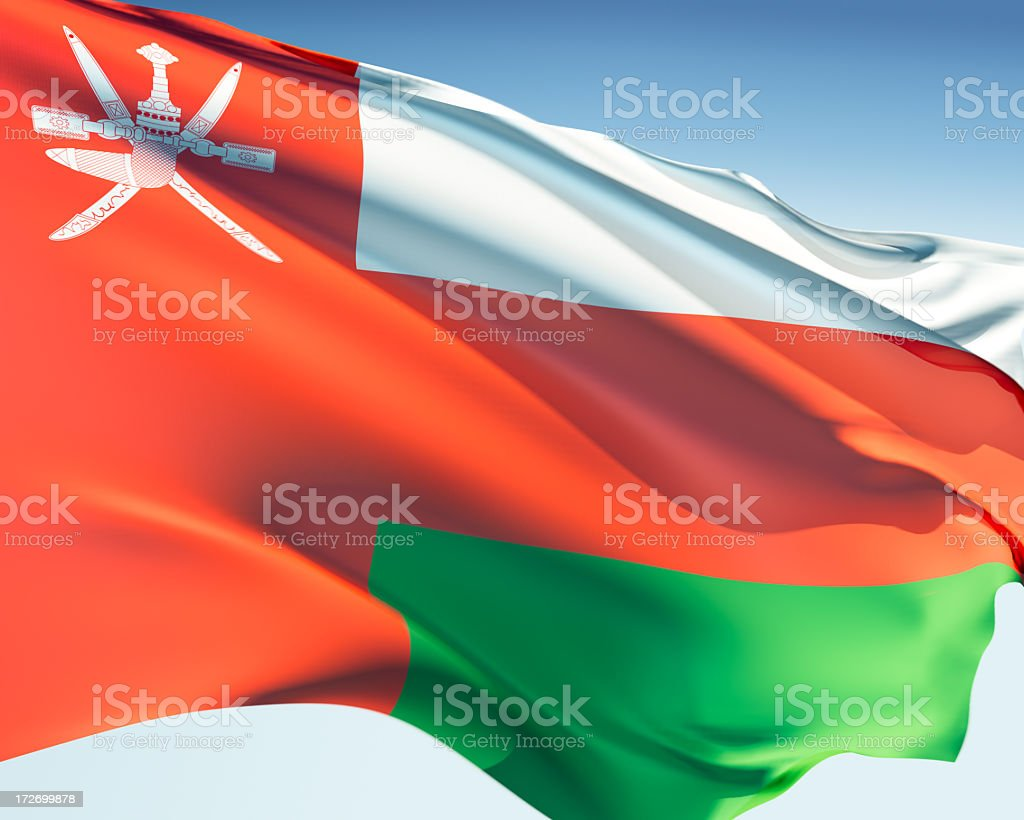 Flag of Oman royalty-free stock photo