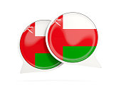 Flag of oman, round chat icon