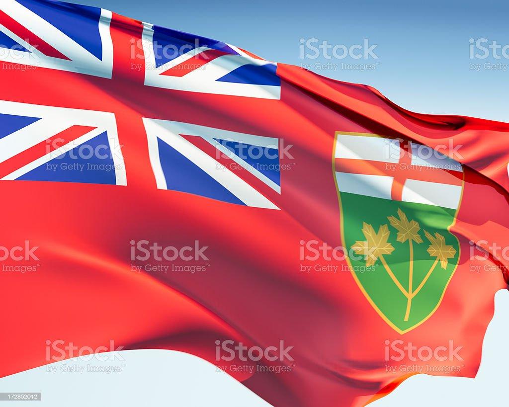 Flag of Ontario royalty-free stock photo
