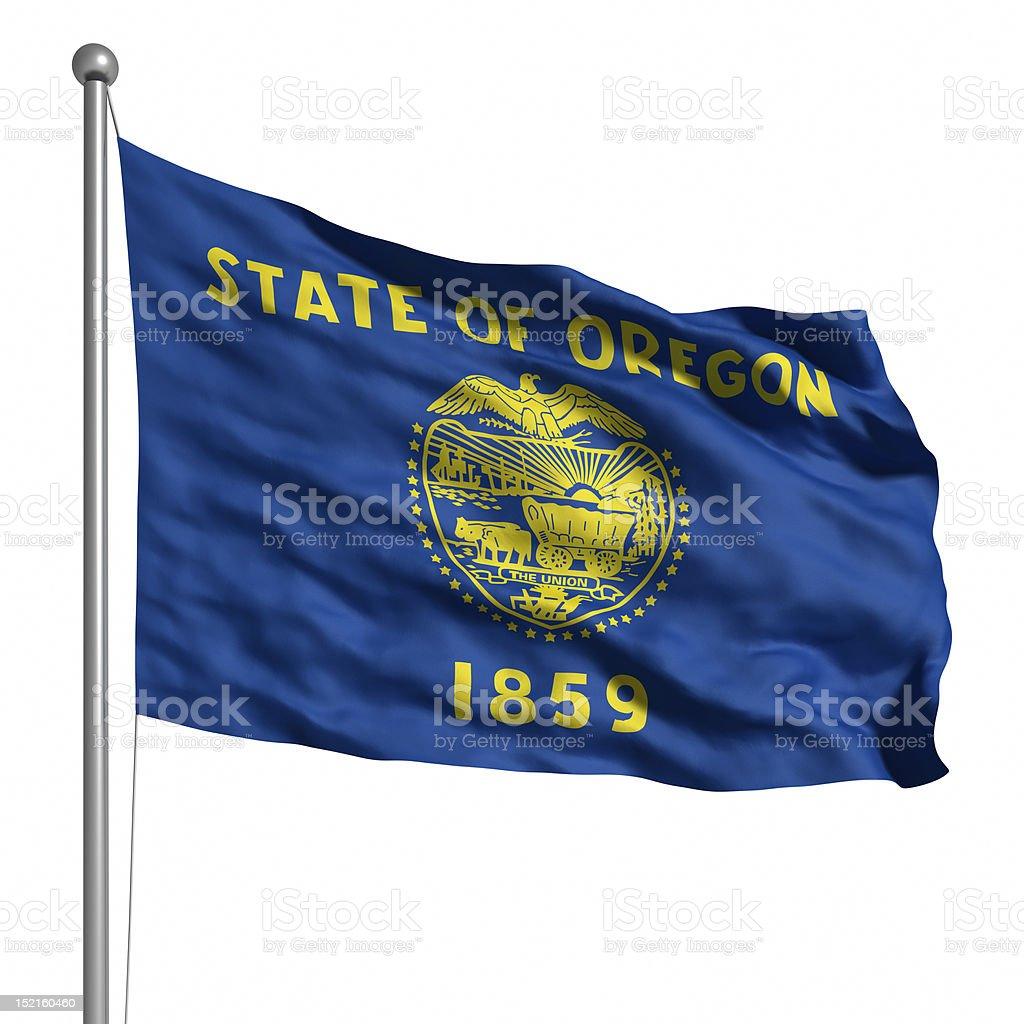 Flag of Oregon (isolated) royalty-free stock photo