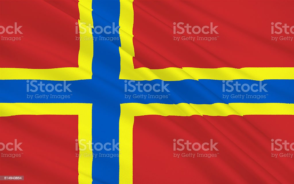 Flag of Orkney of Scotland, United Kingdom of Great Britain stock photo