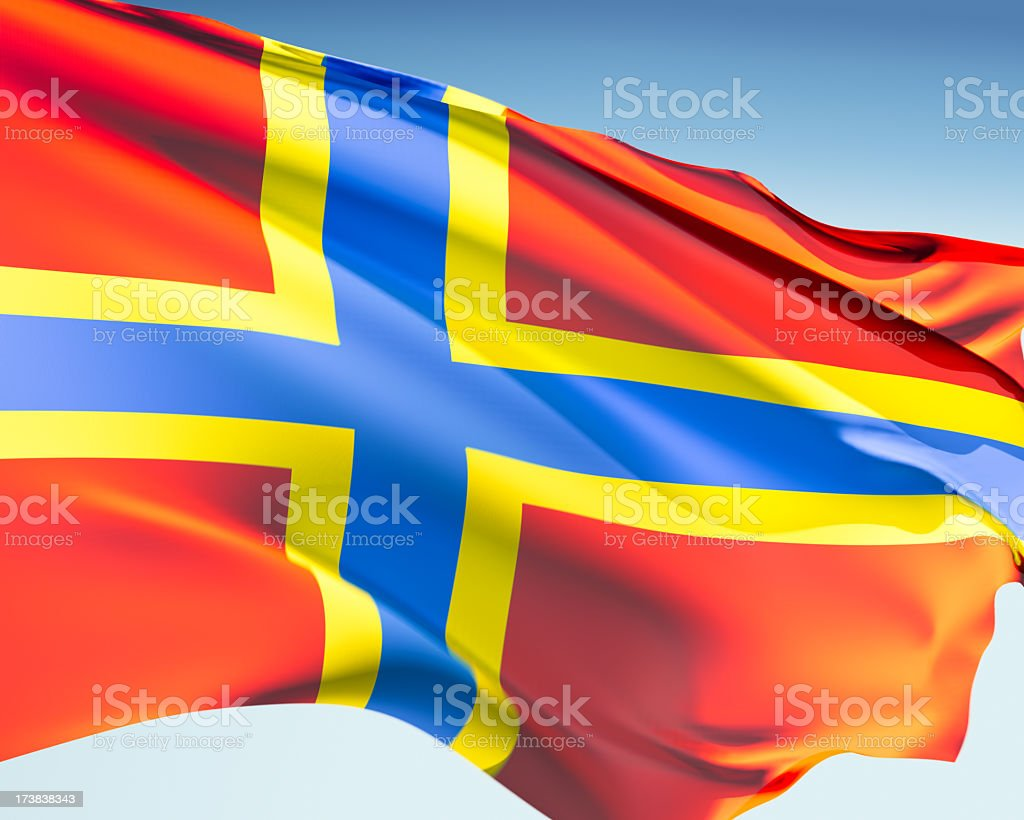 Flag of Orkney stock photo