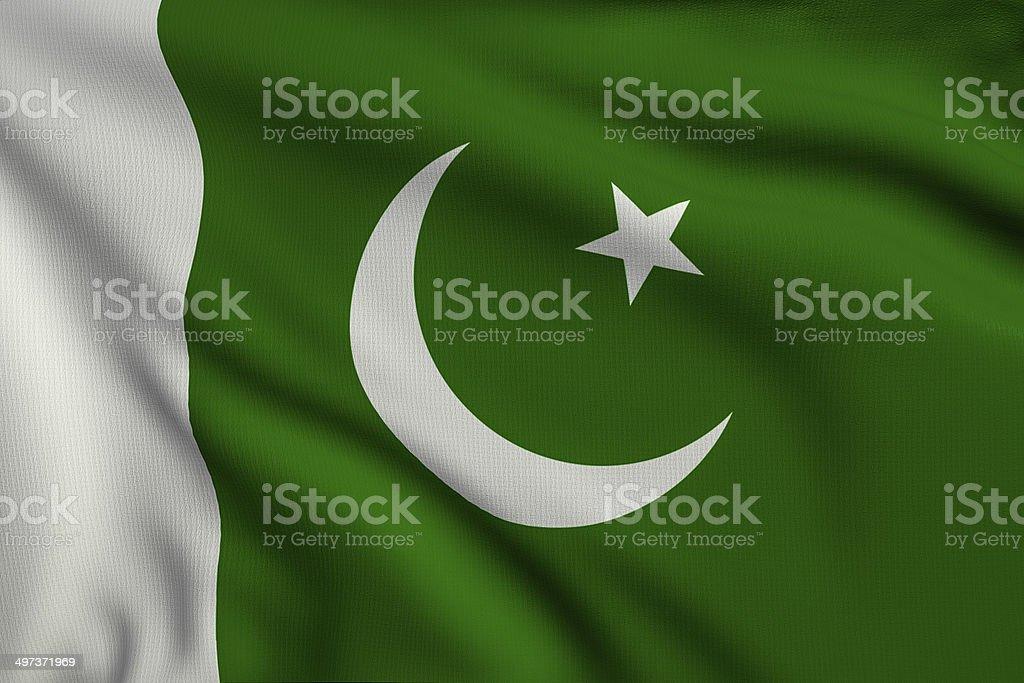 Flag of Pakistan royalty-free stock photo