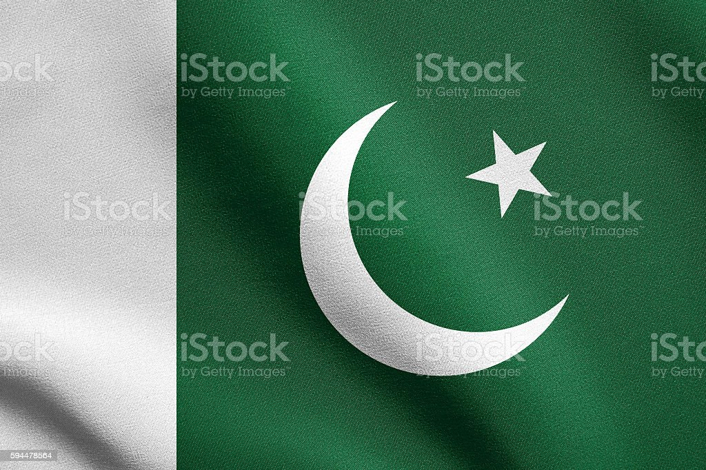 Flag of Pakistan stock photo